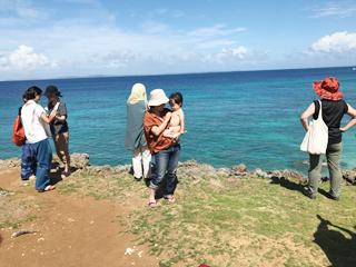 沖縄の海にて